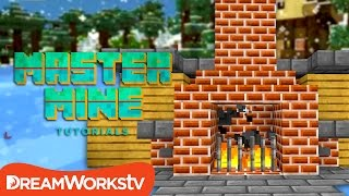 How to Build a Working Fireplace that Turns On and Off in Minecraft | MASTER MINE TUTORIALS