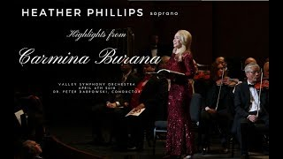 Heather Phillips, soprano - Carmina Burana