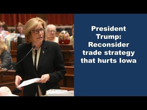 Senate letter opposing trade war hurting Iowa farmers & state's economy