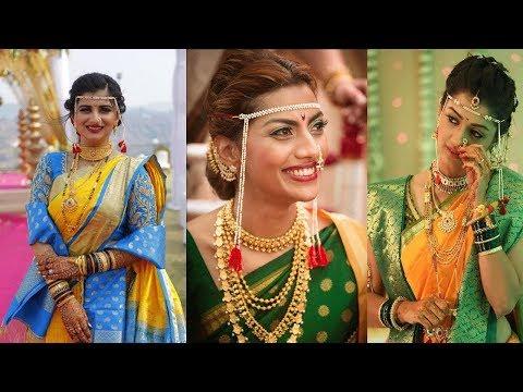 Maharashtrian Bridal Makeup Look||Jewellery||Marthi Bride||Maharashtrian Nauwrai Saree