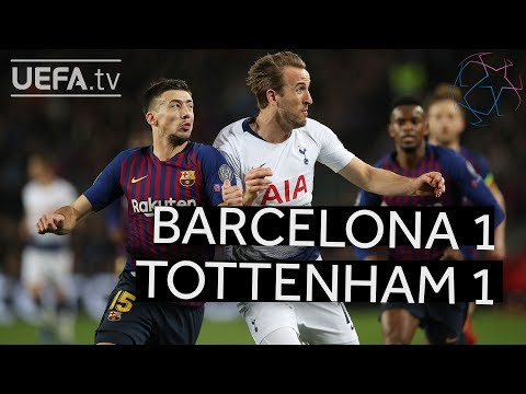 BARCELONA 1-1 TOTTENHAM #UCL HIGHLIGHTS