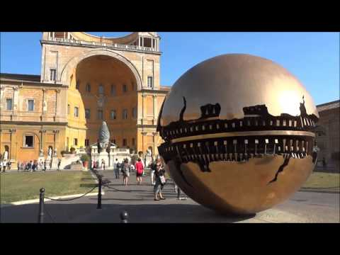 Sphere Within Sphere sculpture by Arnaldo Pomodoro in Vatican City, Rome Italy