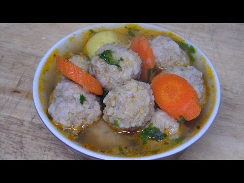 How to Make Easy Beef Meatballs & Rice Soup Recipe from Scratch