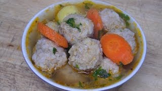 """How to Make Easy Beef Meatballs & Rice Soup Recipe from Scratch"""