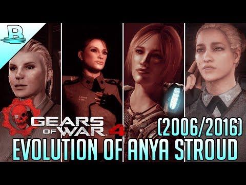 Evolution of Anya Stroud | Gears of War 1-4 (2006-2016) | HD