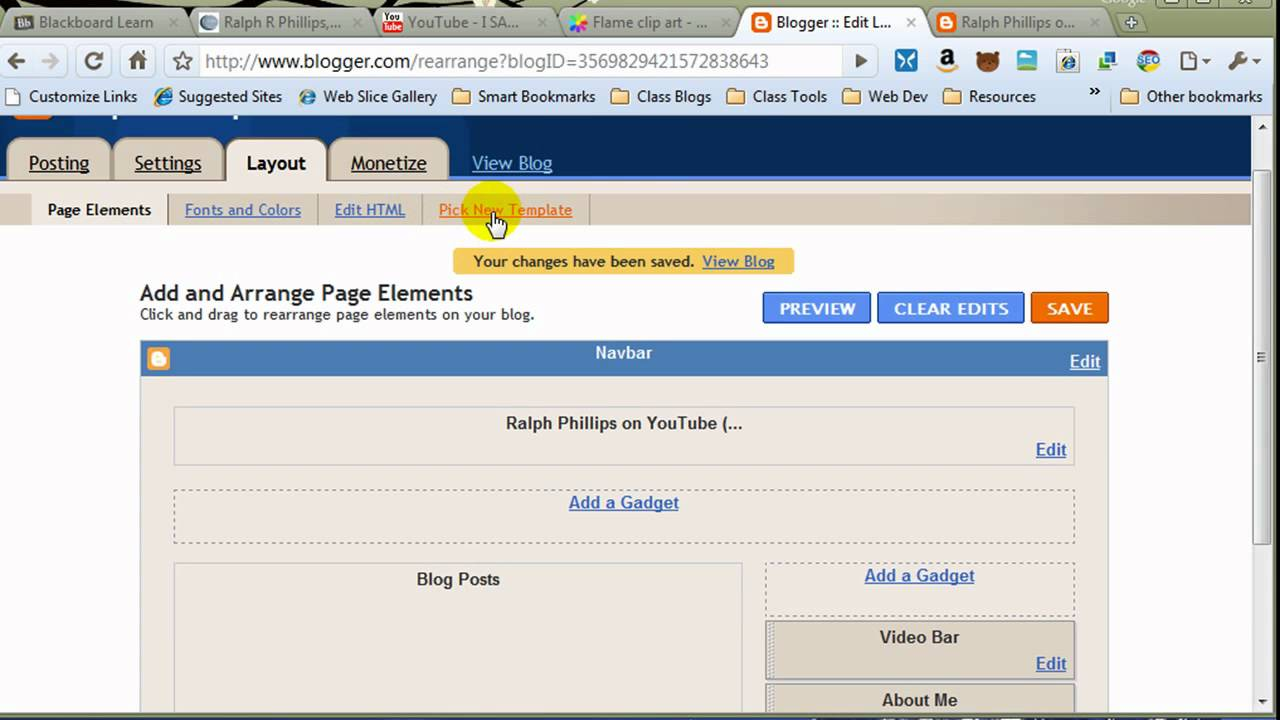 Change Blogger Template - YouTube