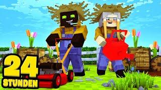 24 STUNDEN als GÄRTNER ARBEITEN?! - Minecraft [Deutsch/HD]