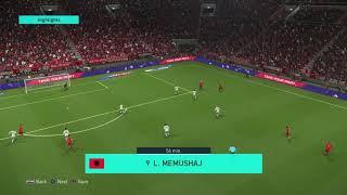 Albania  VS Jordan By Pes 2018 Ps4 Version | Albania WIN