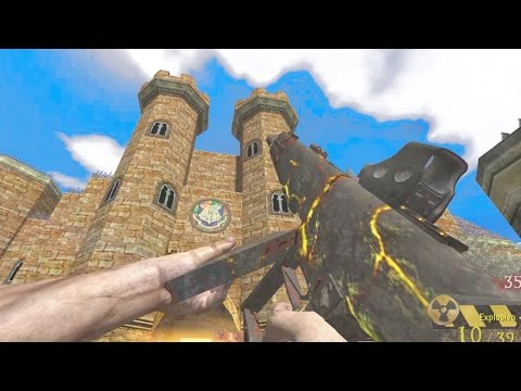 """HOGWARTS ZOMBIES (Harry Potter Map) """"Call of Duty Zombies"""" Custom Gameplay"""