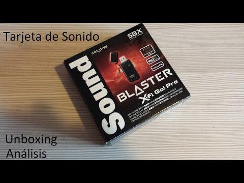 Tarjeta de sonido -Sound Blaster X-Fi Go! Pro- Unboxing y análisis