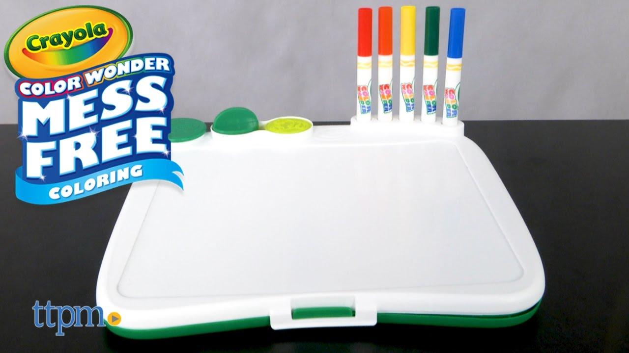 Color Wonder Art Desk with Stamps from Crayola - YouTube