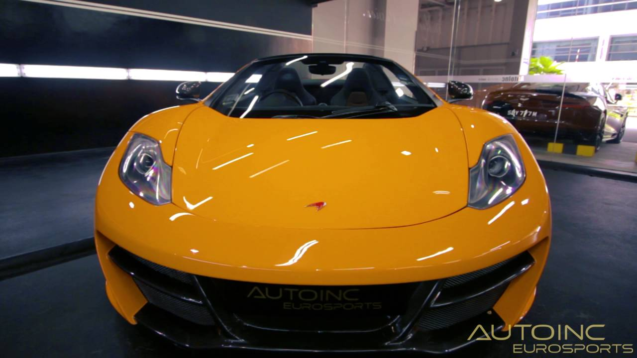 Mclaren MP12 4C Spider Orange - YouTube