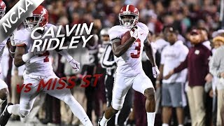 Calvin Ridley Highlights vs Miss St // 5 Catches for 171 Yards // 11.11.17