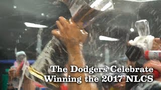 The Dodgers Celebrate Winning the 2017 NLCS | Los Angeles Times