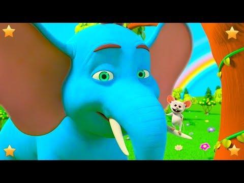 Giant Elephant Song   Nursery Rhymes for Children   Kindergarten Cartoon Songs by Little Treehouse