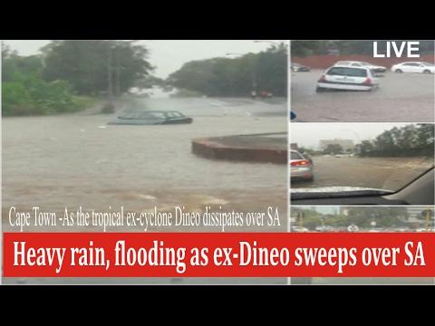 Heavy rain, flooding as ex-Dineo sweeps over SA