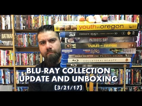 BLURAY COLLECTION UPDATE AND UNBOXING (3/21/17)