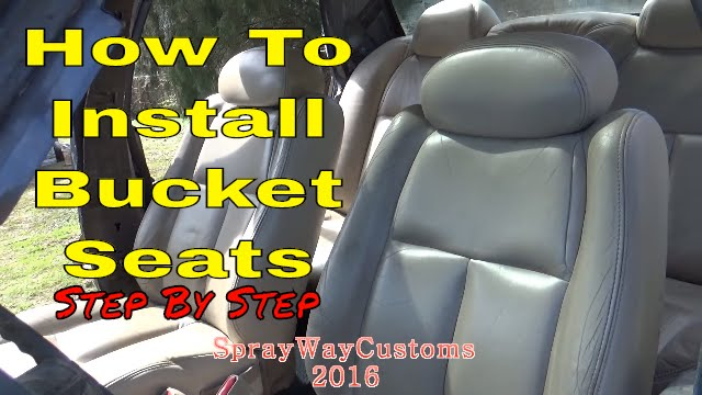 How To Install Bucket Seats / Box Chevy Caprice Custom Seat Swap