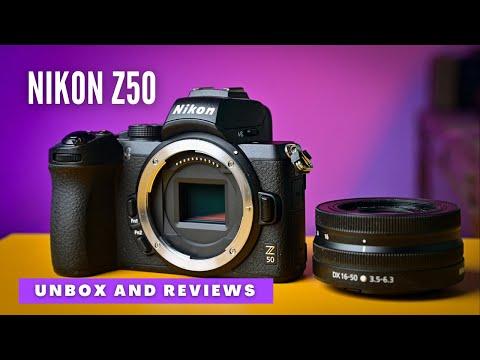 Nikon z50 mirrorless camera unboxing and reviews