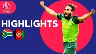South Africa vs Afghanistan Match Highlights | ICC Cricket World Cup 2019