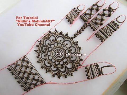 Round Flower Mehndi Designs : Prettry traditional circular round gol tikki henna mehndi design