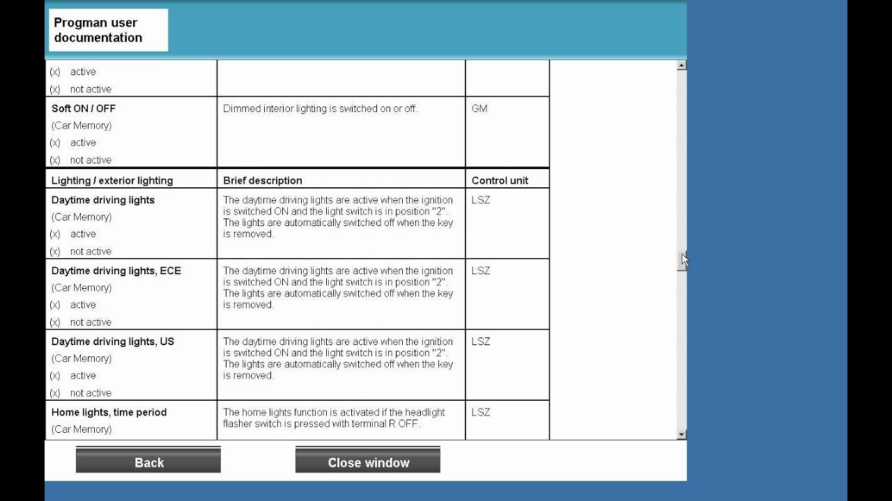 bmw progman manual