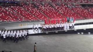 NDP 2016 -Combined Rehearsal 1-Guard of Honour Marching In