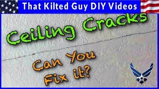 How You Can Repair a Large Crack on the Ceiling using Mesh Tape & Hot Mud