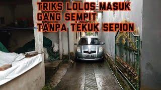 CARA LOLOS MASUK GANG SEMPIT TANPA TEKUK SPION | TUTORIAL MENGEMUDI MOBIL # 4