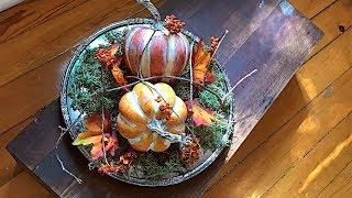 Easy Fall Tray Centerpiece - Rustic Elegant Fall Decorating