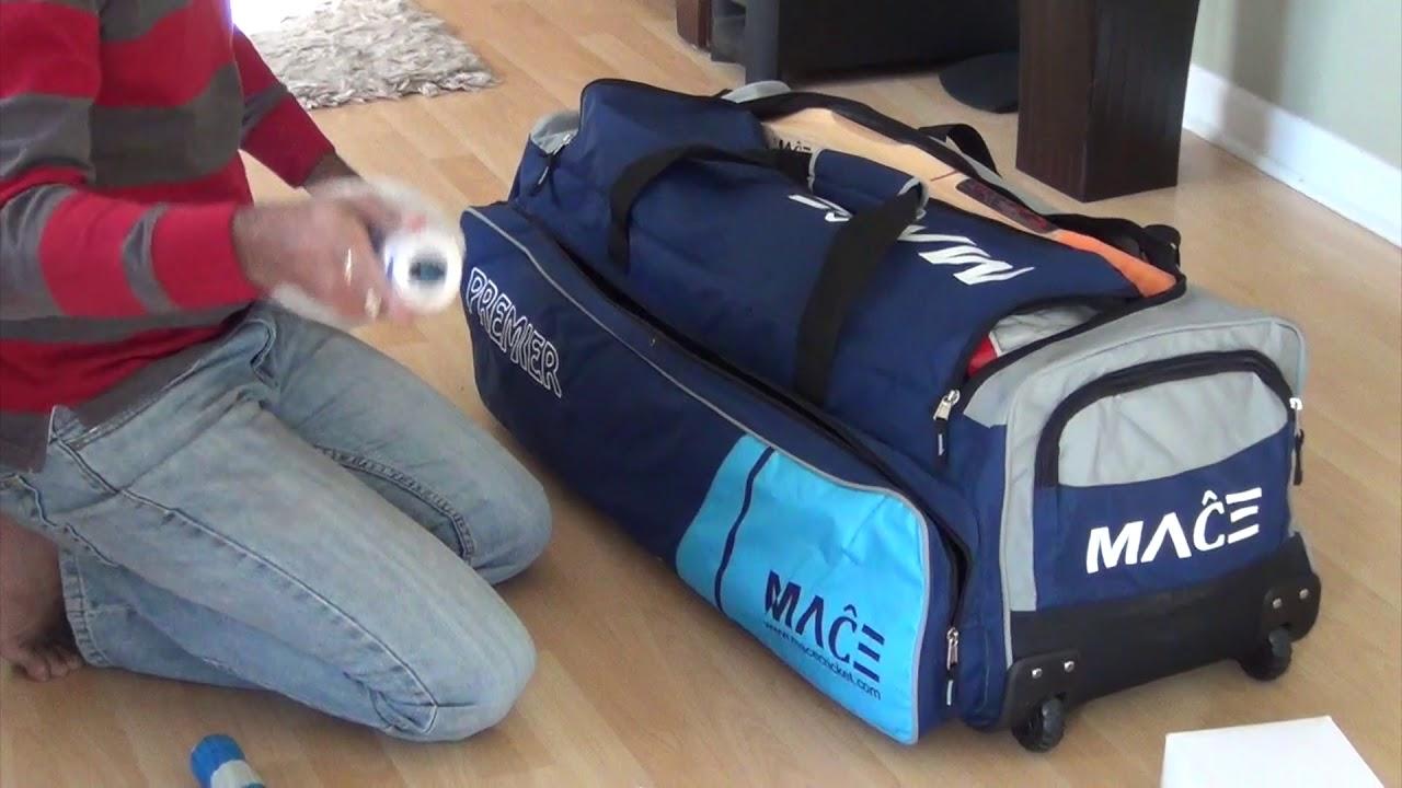 3500bde6bf MACE Premier Cricket Kit Bag - YouTube