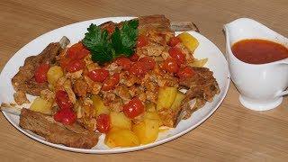 Очень сочное и нежное мясо в духовке (баранина и телятина).