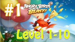 Angry Birds Blast (AB Blast) Walkthrough Part 1- Level 1 to 10 Completed screenshot 2