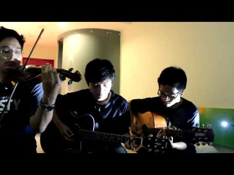 (Utada Hikaru) First Love - Acoustic Guitar & Violin Cover By Gilbert, John, And Joshua