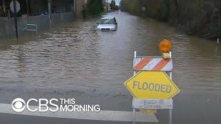 Mandatory flood evacuations in parts of Northern California
