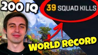 39 Kill World Record on Apex Legends, Shroud's 200 IQ Play, Ninja Apex Legends Funny Moment | #1