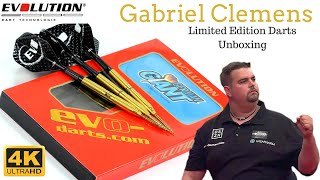 """Https://dartsreviewchannel.com/ this is an unboxing video in 4k ultra hd of the limited edition gabriel """"the german giant"""" clemens darts by evolution g..."""