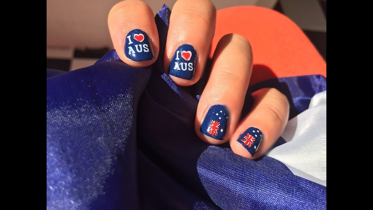 Australia day nail tutorial stamping youtube australia day nail tutorial stamping prinsesfo Gallery