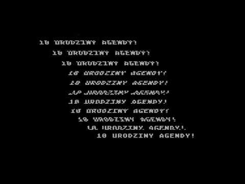 """Urodziny"" 256 byte intro Atari XL/XE LOST party 2020"
