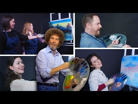 Ridder, Scott and Shannen - The Bob Ross Challenge is Taking Over the Internet