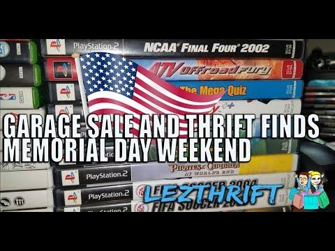 LIVE GARAGE SALE/FLEA MARKET/THRIFT GAME HUNTING MEMORIAL DAY WEEKEND