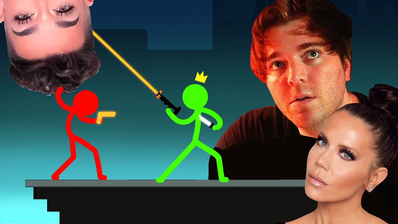 Halfway Understanding YouTube Drama PLUS God Pistols and Blink Daggers... the episode! | Stick Fight
