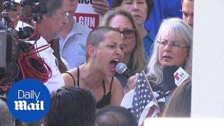 School shooting survivor Emma Gonzalez speaks at anti-gun rally - Daily Mail
