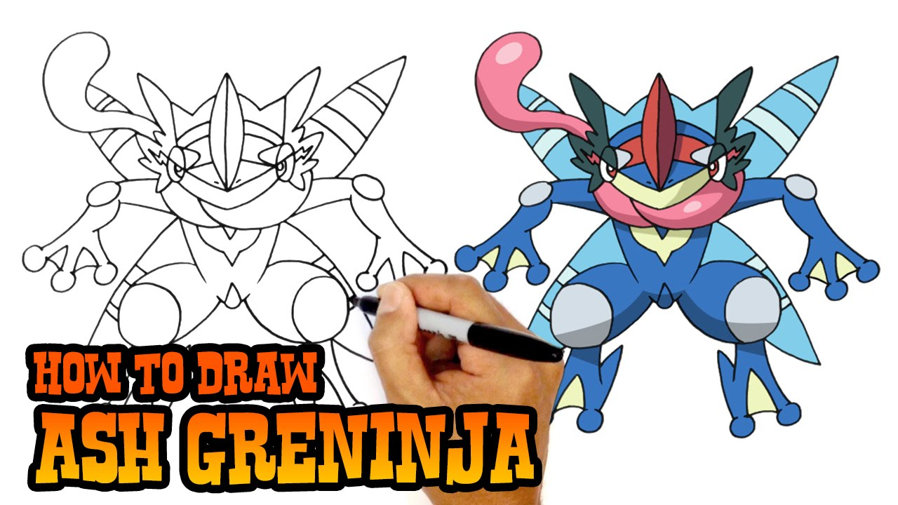 Pictures to draw mega drawing. How ash greninja pokemon