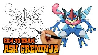 How to Draw Ash Greninja | Pokemon