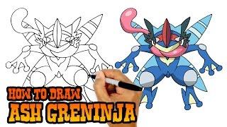 How to Draw Ash Greninja | Pokemon