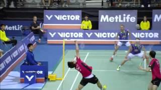 Victor Korea Open 2015 | Badminton SF M1-MD | Lee/Yoo vs Boe/Mog