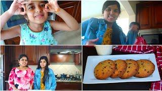 Lockdown Kids Fun Vlog  Bloopers  Chocolate Chip Cookies Recipe  usa tamil vlog  tamil vlog