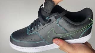 Nike Vision Court Low 'black/ black-flash crimson' | UNBOXING & ON FEET | fashion sneaker | 2020