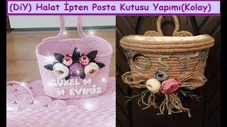 diy   Halat ipten Kapı Süsü Posta Kutusu Yapımı,Crafts,Art  How To Make Wicker Rope home Decorations